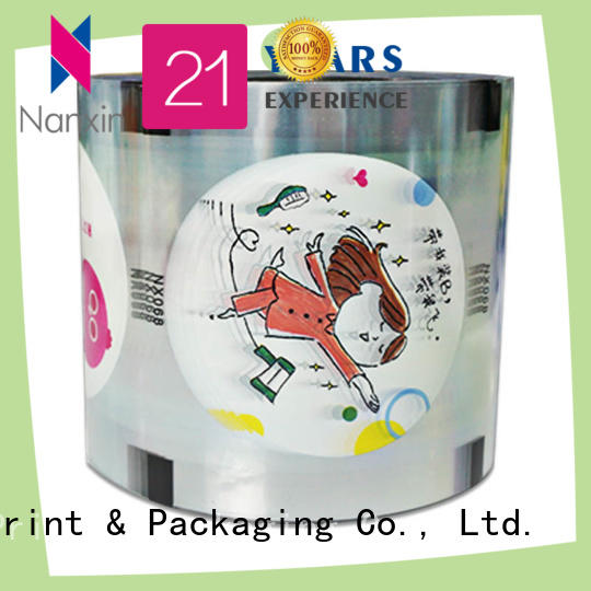 Nanxin Print & Packaging heat seal cup sealer film adorable drinks