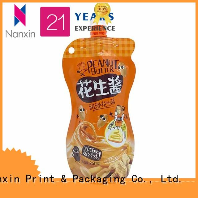 260g special shape stand up spout pouches for peanut butter with hanging hole