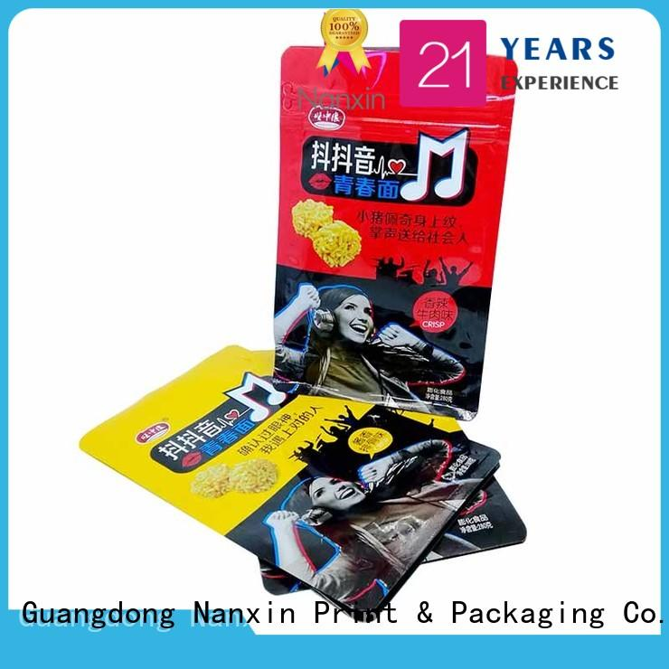 Nanxin Print & Packaging Wholesale flat bottom pouch company for foods