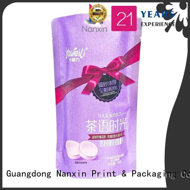 Nanxin Print & Packaging oxygen proof flexible pouches packaging strong sealing liquids