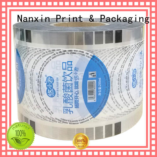 Nanxin Print & Packaging semi-transparent roll film for cup sealing adorable shop mall