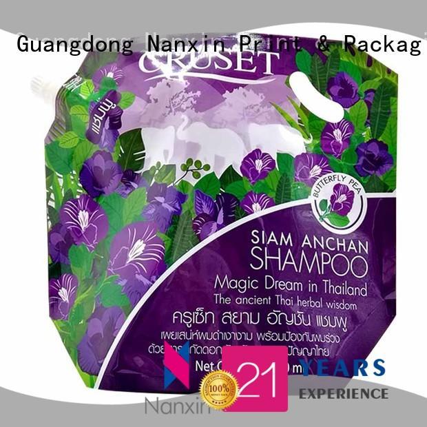 Nanxin Print & Packaging flat bottom liquid spout bag hygienic lotion