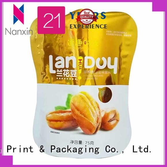 Nanxin Print & Packaging resealed zipper stand up pouch bags long shelf life dried fruit or vegetable
