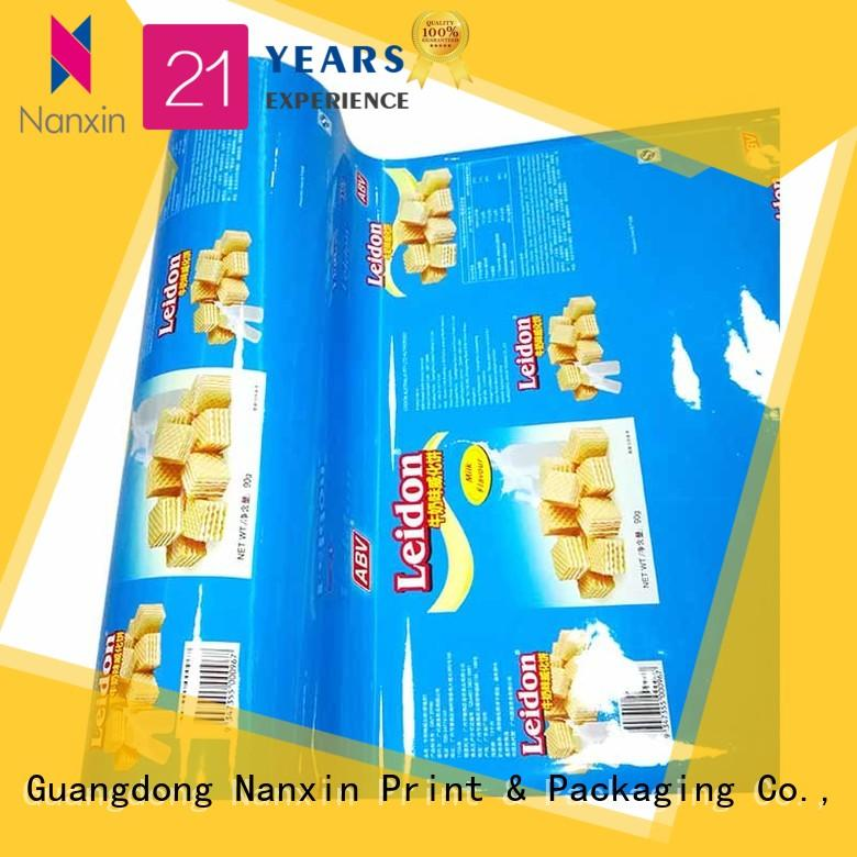 Custom laminated packaging films automatic printed company for pudding