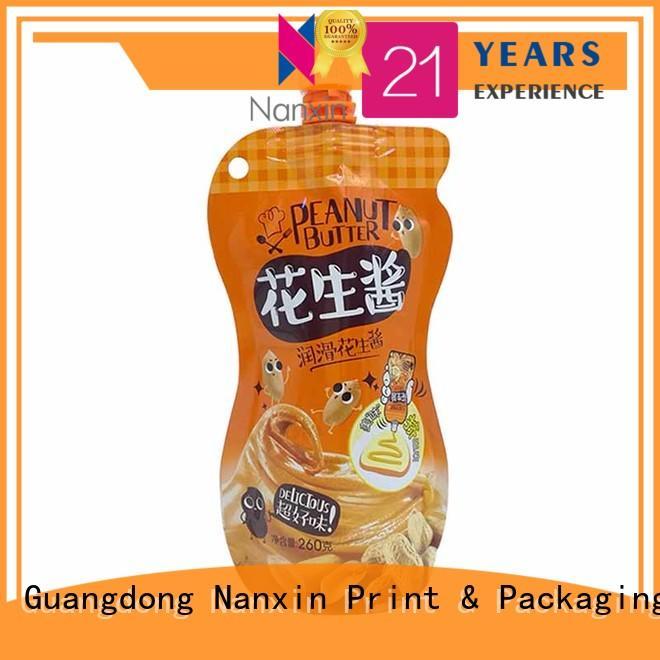 Nanxin Print & Packaging hanging hole spout pouch hygienic liquids