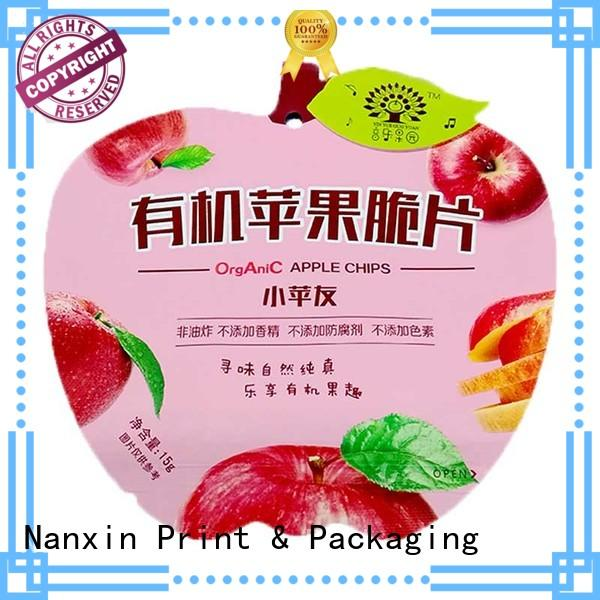 fashionable customized resealable bags strong sealing foods Nanxin Print & Packaging
