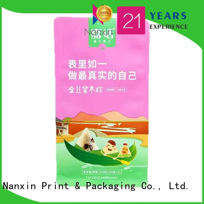 Nanxin Print & Packaging zipper flat bottom gusset bags manufacturers for cookies
