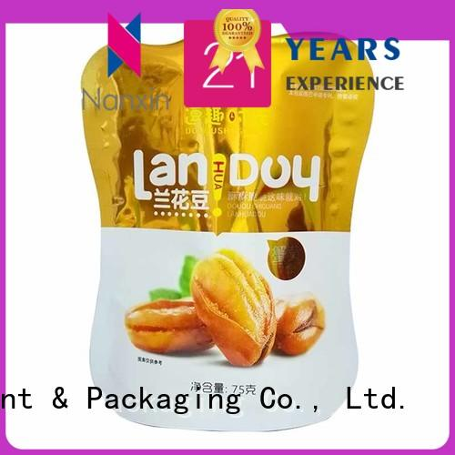 Nanxin Print & Packaging colorful standing up pouch long shelf life Snacks