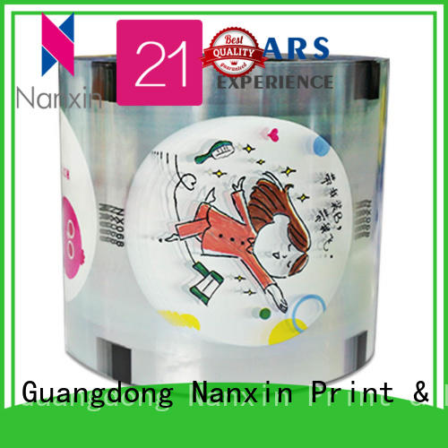 Nanxin Print & Packaging pet/cpp cup sealing film manufacturers for jelly