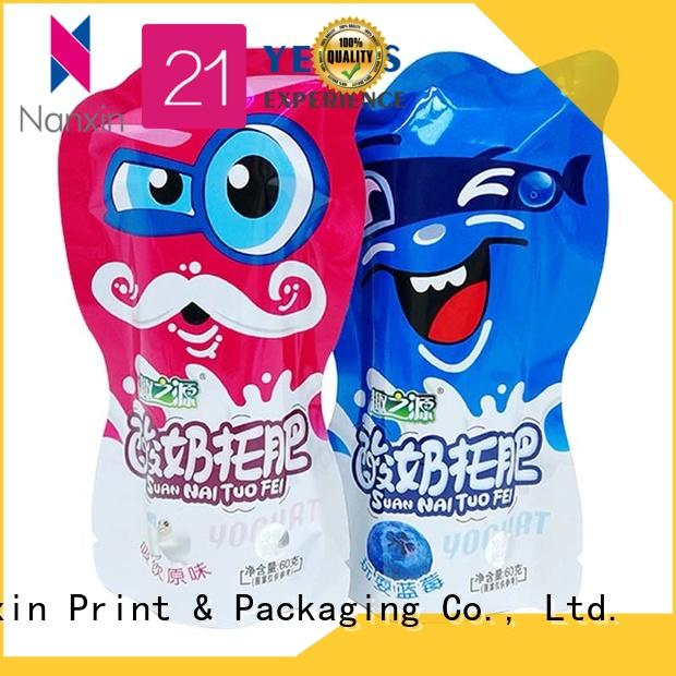 Wholesale food pouch packaging flat bottom suppliers for liquids