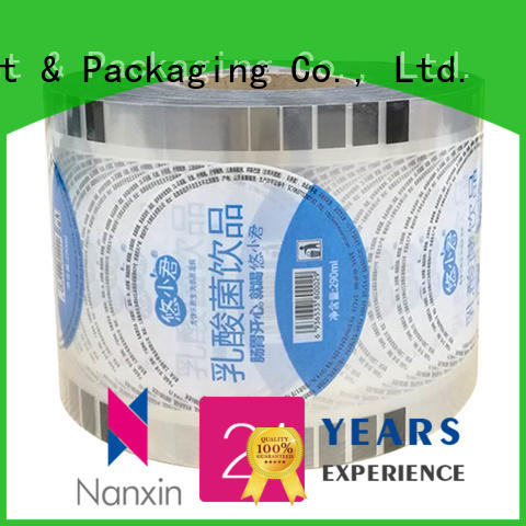Nanxin Print & Packaging heat seal bubble tea sealing film factory for shop mall