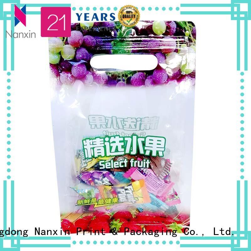 Transparent PET/PE fruit ziplock packaging bags