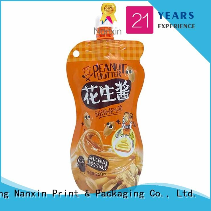Nanxin Print & Packaging customized spout bag flexible liquids