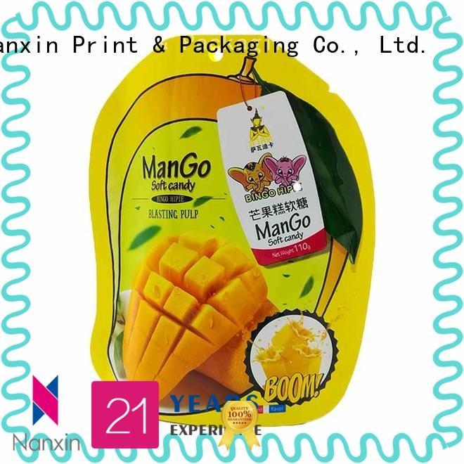 Nanxin Print & Packaging Top stand up ziplock bag wholesale fpr snacks