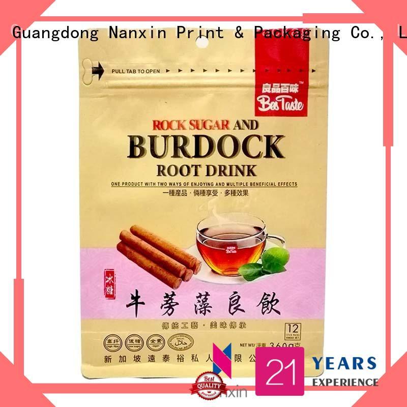 Nanxin Print & Packaging ziplock flat bottom gusset bags firm snack