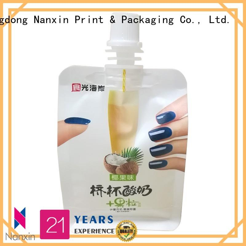 Nanxin Print & Packaging easy carry handle spout pouch packaging flexible liquids