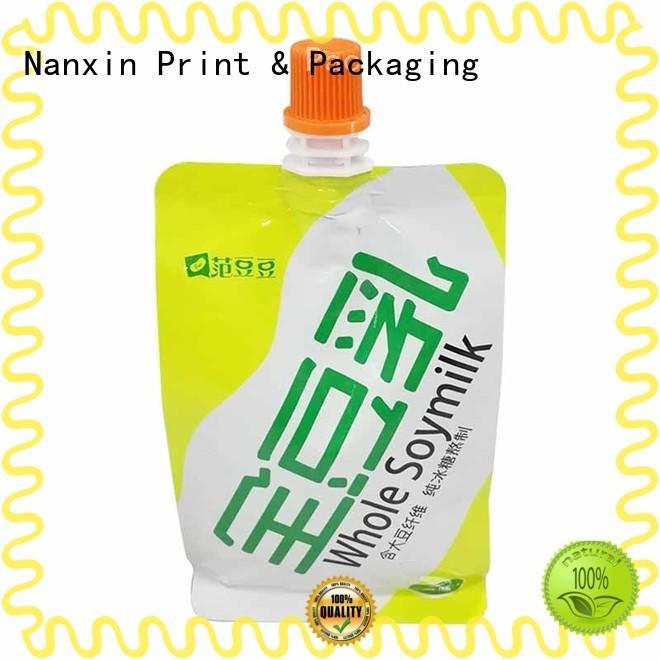 hanging hole liquid spout bag pet/pe sauce Nanxin Print & Packaging