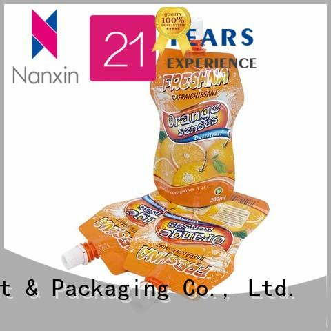 Nanxin Print & Packaging laminated films spout bag supply for liquids
