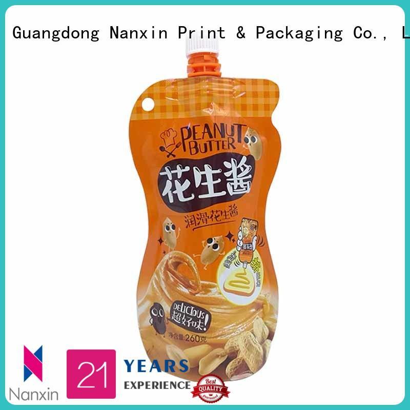 easy carry handle spout bag high capacity liquids Nanxin Print & Packaging