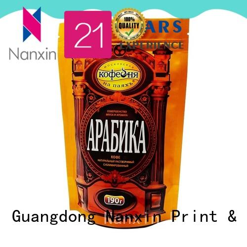 Nanxin Print & Packaging plastic standing up pouch manufacturers fpr snacks