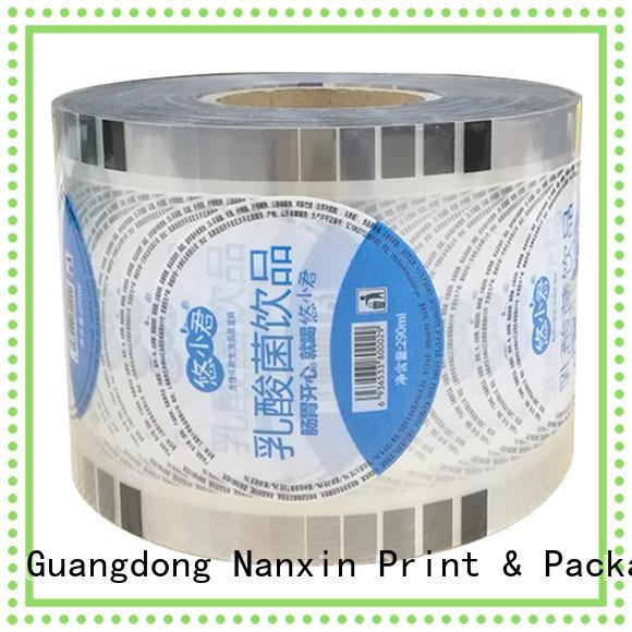 Nanxin Print & Packaging fashion bubble tea sealing film opaque color shop mall