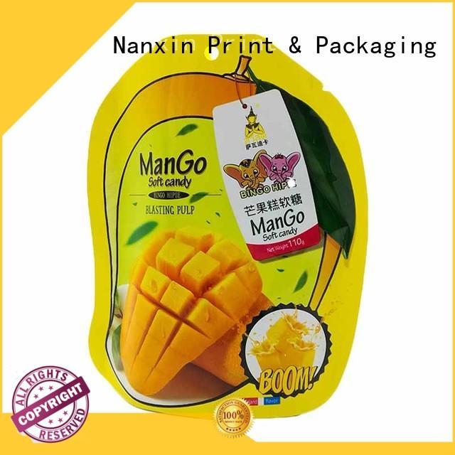 Nanxin Print & Packaging colorful stand up ziplock bags nice color printing dried fruit or vegetable