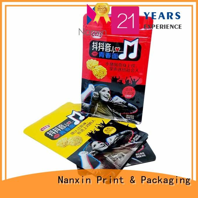 Nanxin Print & Packaging oxygen proof gussetted bag paper snack