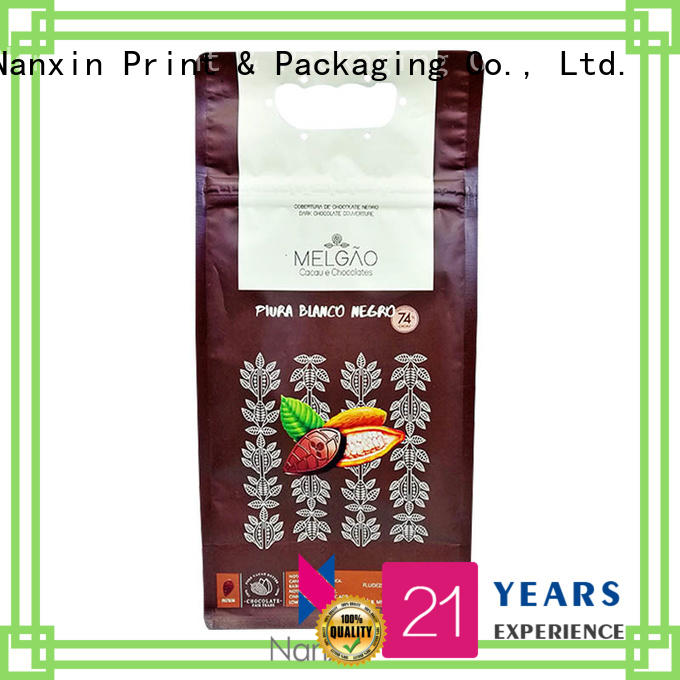 Nanxin Print & Packaging heat seal flat bottom gusset bags for business for cookies