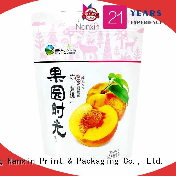 convenient stand up zipper bag soft easy reclosing dried fruit or vegetable
