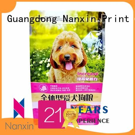 Nanxin Print & Packaging paper flat bottom pouch bright printing cookies