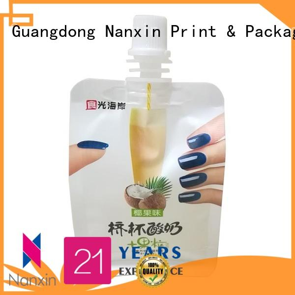 Nanxin Print & Packaging special shape spout pouch packaging high capacity sauce