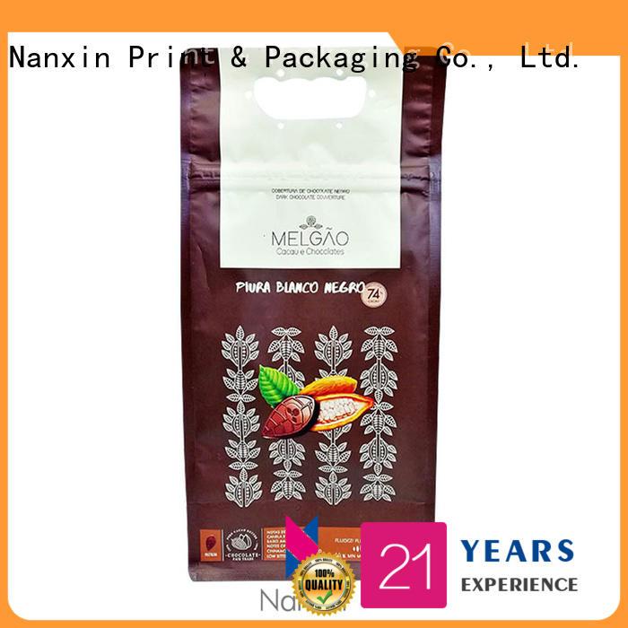 Nanxin Print & Packaging pet/pe flat bottom pouch bright printing snack