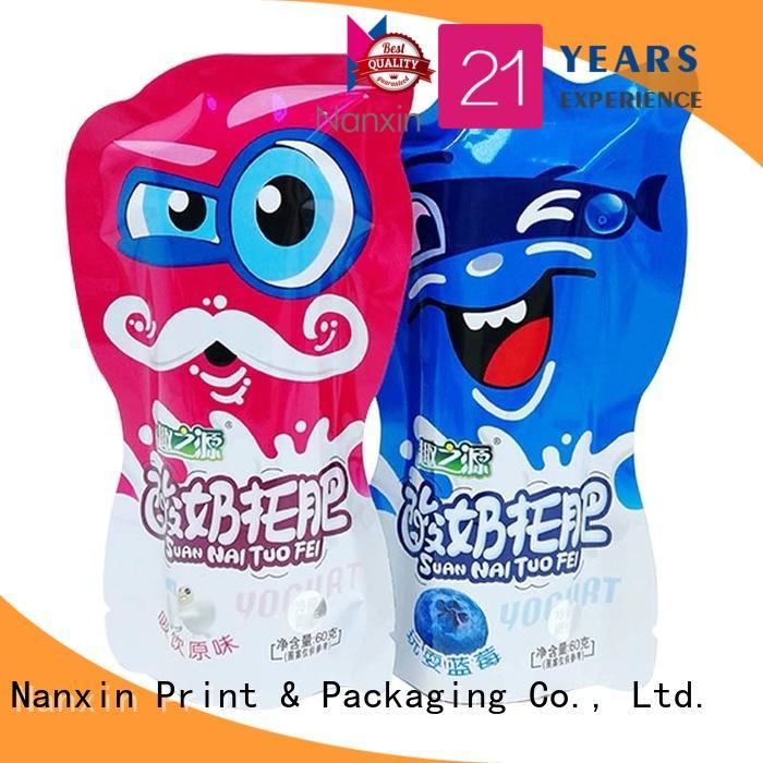 flat bottom food packaging pouches gravure printing foods Nanxin Print & Packaging
