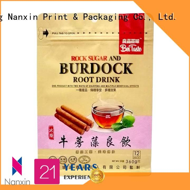 Nanxin Print & Packaging flat bottom shape flat bottom pouch company for snack
