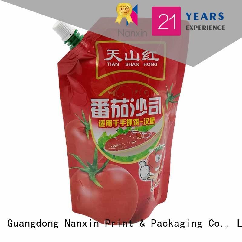 Latest spout pouches novel pattern wholesale for juice