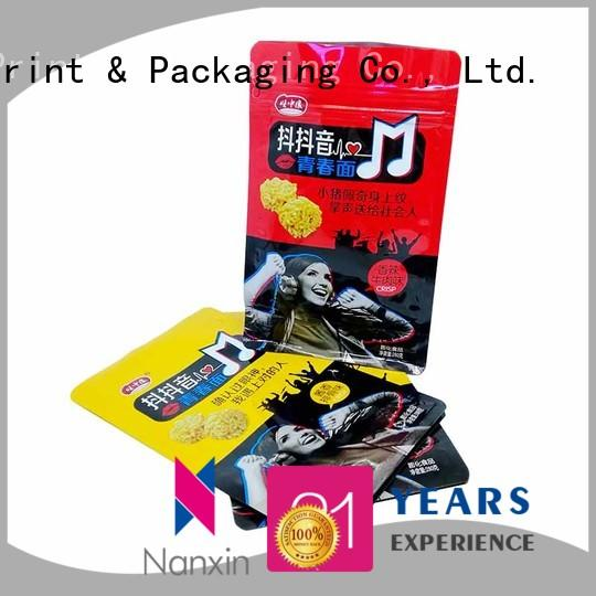 Nanxin Print & Packaging moisture proof gusset pouch attractive foods