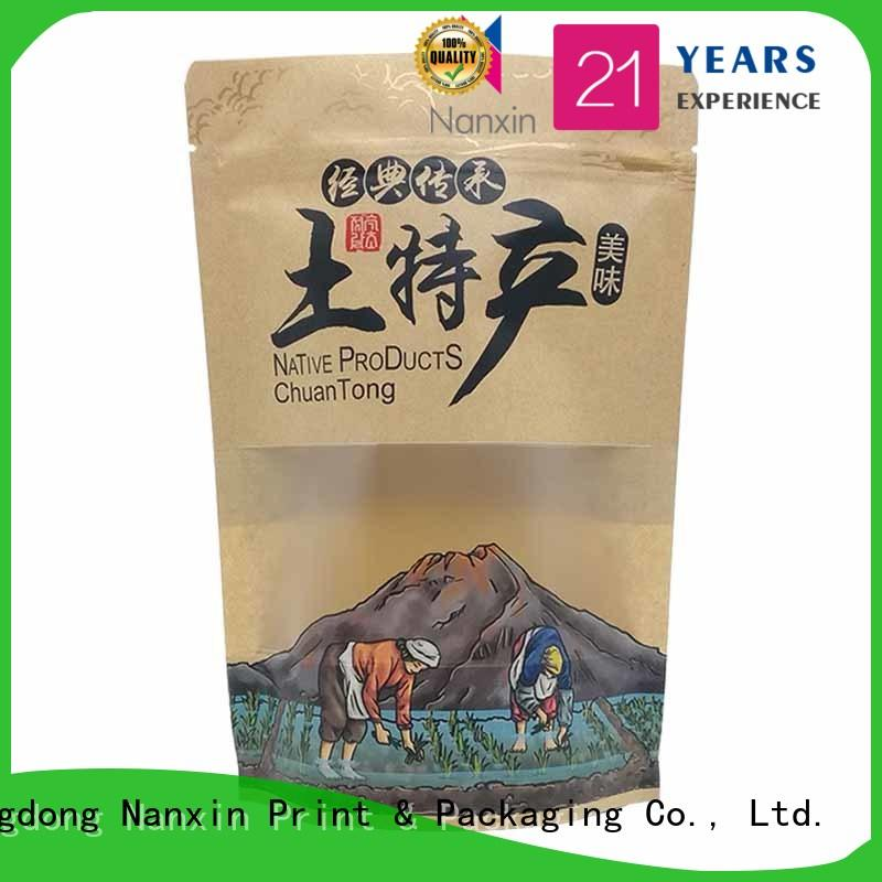 Nanxin Print & Packaging convenient stand up resealable pouch plastic dried fruit or vegetable