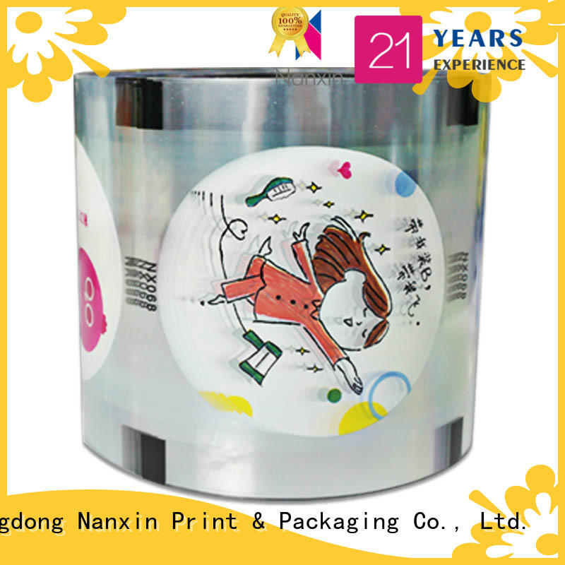 Nanxin Print & Packaging transparent cup sealing film eye-catching jelly