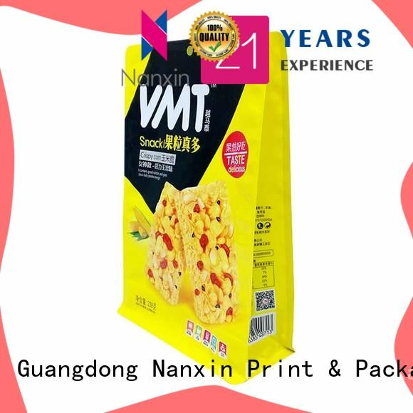Nanxin Print & Packaging oxygen proof gusset pouch bright printing cookies