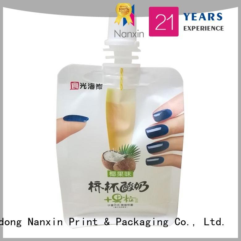 Nanxin Print & Packaging convenient used liquid spout bag flexible lotion