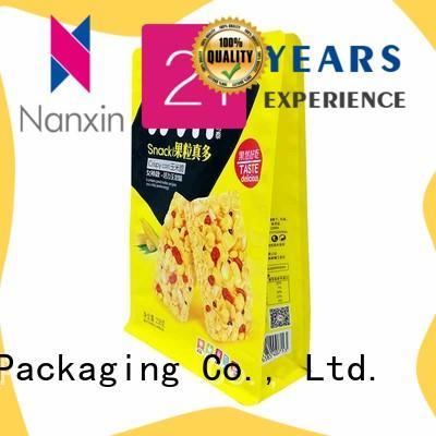 Nanxin Print & Packaging ziplock flat bottom bag suppliers for snack